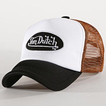 Von Dutch - Casquette Trucker Foam Noir Blanc Marron