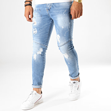 Black Needle - Jean Slim 2604 Bleu Wash