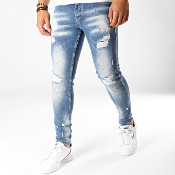 Black Needle - Jean Slim 2705 Bleu Wash