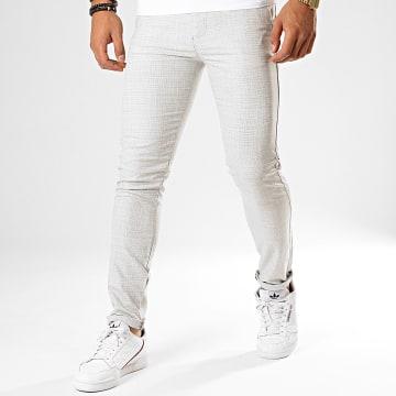 Classic Series - Pantalon Chino M-3185 Gris Clair Blanc