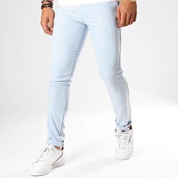 Classic Series - Pantalon Chino M-3185 Bleu Ciel Blanc