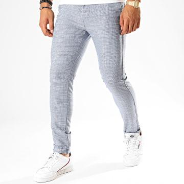 Classic Series - Pantalon Chino M-3185 Bleu Blanc
