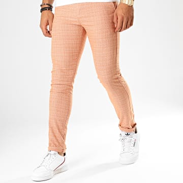 Classic Series - Pantalon Chino M-3185 Orange Blanc