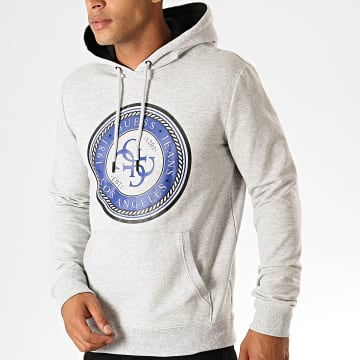 Sweat Capuche M94Q34-K7ON0 Gris Chiné Noir Bleu