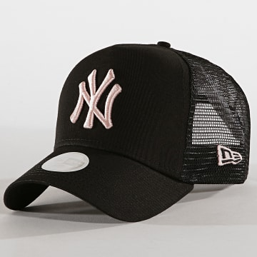 Casquette Trucker League Essential New York Yankees 12040421 Noir Rose Pâle