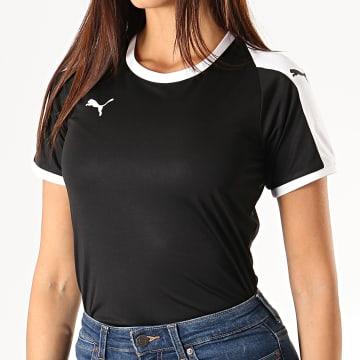 Puma - Tee Shirt De Sport Femme Liga Jersey 703426 Noir Blanc