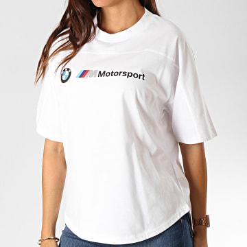 Tee Shirt Femme BMW Motorsport Logo 595724 Blanc