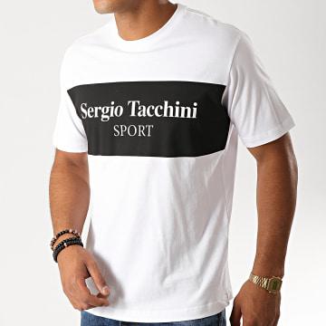 Sergio Tacchini - Tee Shirt Daniken 38363 Blanc Noir