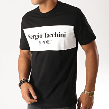Sergio Tacchini - Tee Shirt Daniken 38363 Noir Blanc