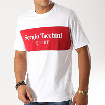 Sergio Tacchini - Tee Shirt Daniken 38363 Blanc Rouge