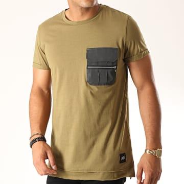 Sixth June - Tee Shirt Poche 3885CTS Vert Kaki