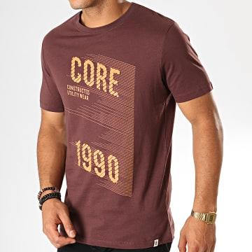 Tee Shirt Hatch Bordeaux Orange
