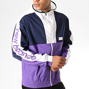 Coupe vent Colorblock Athletic 692240-60 Bleu Marine Violet Blanc