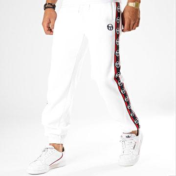 Pantalon Jogging A Bandes Dekle Blanc