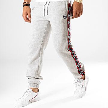 Pantalon De Jogging A Bandes Dekle 38318 Gris Chiné Bleu Marine Rouge