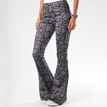 Pantalon Flare Femme Serpent 3903KPA Gris Noir