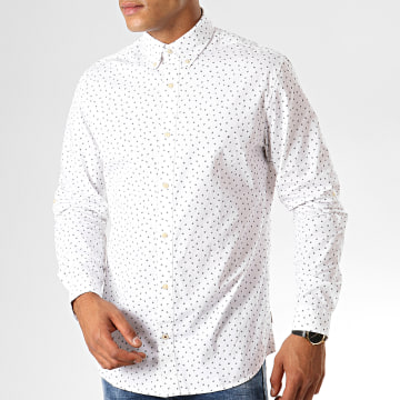 Chemise Manches Longues Print Blanc