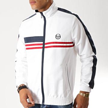 Veste Zippée A Bandes Decha 38291 Blanc Bleu Marine Rouge