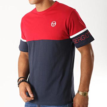 Sergio Tacchini - Tee Shirt Dwight 38322 Bleu Marine Rouge Blanc