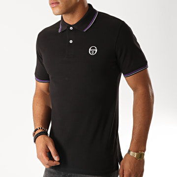 Polo Manches Courtes Sergio 017 37387 Noir Violet Blanc