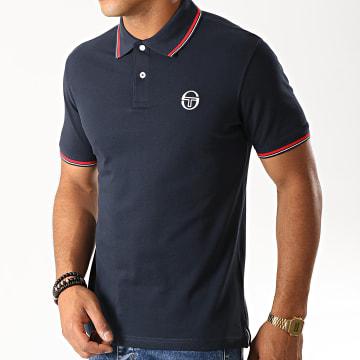 Polo Manches Courtes Sergio 017 37387 Bleu Marine Rouge Blanc
