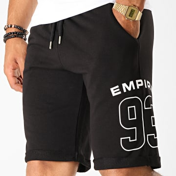 93 Empire - Short Jogging Dossard Noir Blanc