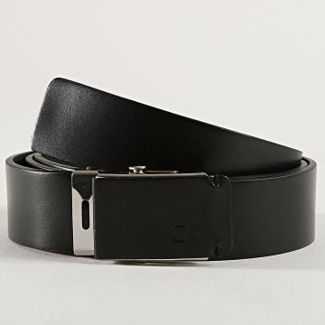Calvin Klein - Ceinture Leather Plaque 4953 Noir