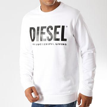 Diesel - Sweat Crewneck Division Logo 00SWFH-0BAWT Blanc
