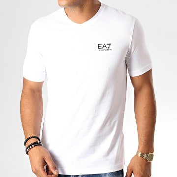 Tee Shirt Col V 8NPT53-PJM5Z Blanc