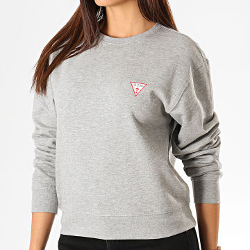 Guess - Sweat Crewneck Femme W94Q29-K8RS0 Gris Chiné