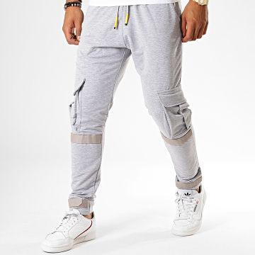 Pantalon Jogging F546 Gris Clair Chiné