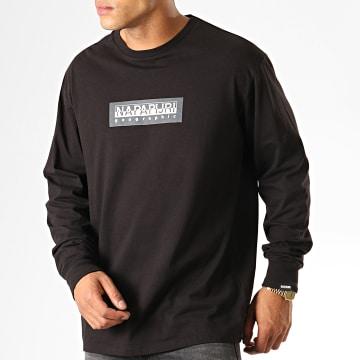 Napapijri - Tee Shirt Manches Longues Sox KBR0411 Noir
