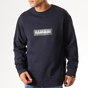 Sweat Crewneck Box KBU1761 Bleu Marine