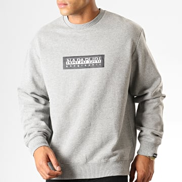 Sweat Crewneck Box KBU1601 Gris Chiné