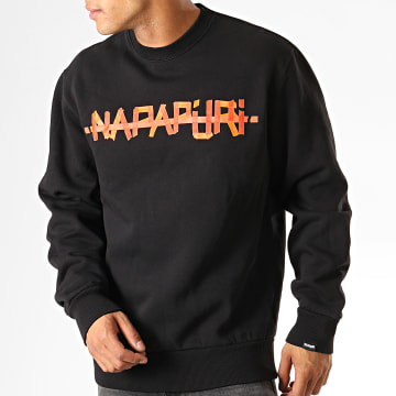 Napapijri - Sweat Crewneck Bolt IV70411 Noir Orange