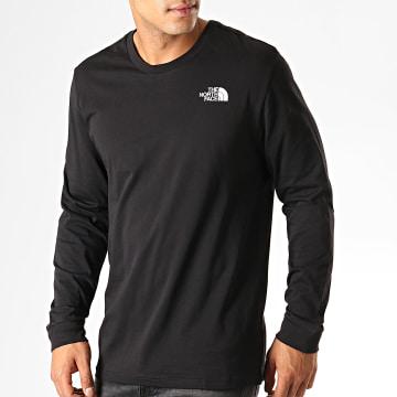 Tee Shirt Manches Longues Simple Dome 3L3B Noir Blanc