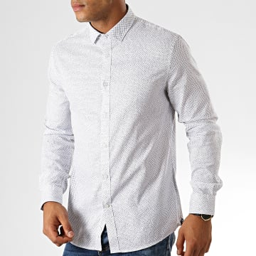 Chemise Manches Longues Party Blanc