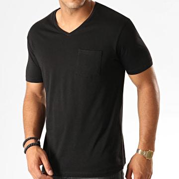 Celio - Tee Shirt Col V Poche Pebasic Noir