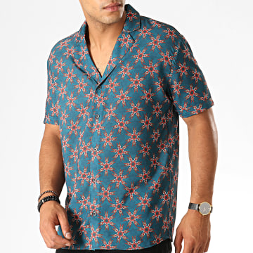 Chemise Manches Courtes 1457 Vert Rouge