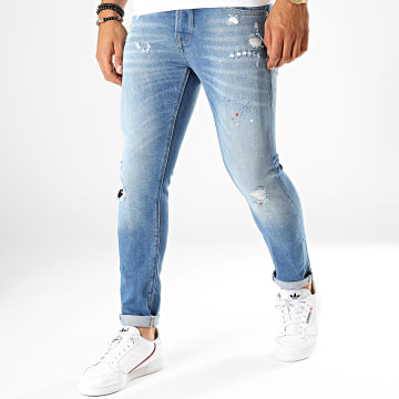 GRJ Denim - Jean Slim 13908 Bleu Denim