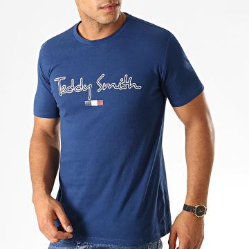 Teddy Smith - Tee Shirt Teven Bleu Marine