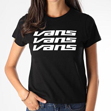 Vans - Tee Shirt Femme Trifecta A47W7BLK Noir Blanc