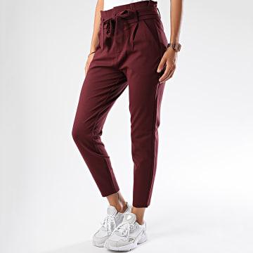 Pantalon Femme Eva Loose Bordeaux