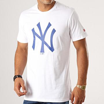 Tee Shirt Estl Primary Contrast New York Yankees 12149698 Blanc