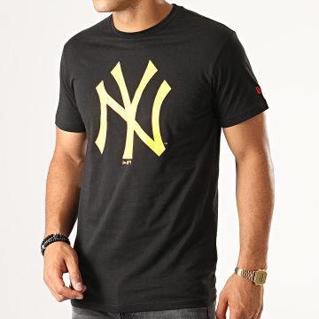 Tee Shirt Estl Primary Contrast New York Yankees 12149699 Noir