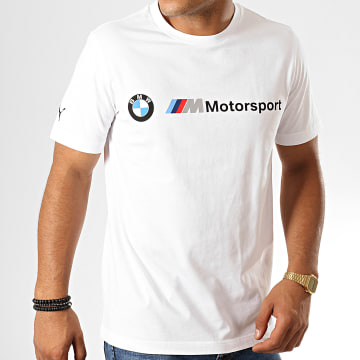 Puma - Tee Shirt BMW Motorsport Logo 595369 Blanc