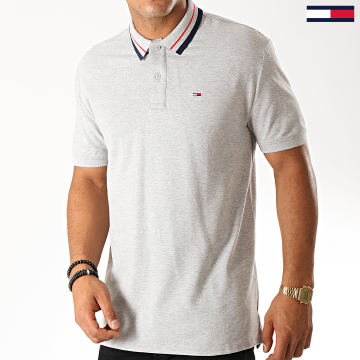 Polo Manches Courtes Classics Tipped Stretch 7195 Gris Chiné