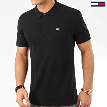 Tommy Jeans - Polo Manches Courtes Classics Solid Stretch 7196 Noir