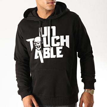 Untouchable - Sweat Capuche Untouchable Noir Blanc