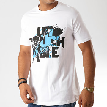 Untouchable - Tee Shirt Untouchable Splatter Blanc Bleu Noir